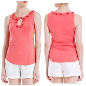 SOPHIE MAX Pink Sleeveless Keyhole Summer Top NWT